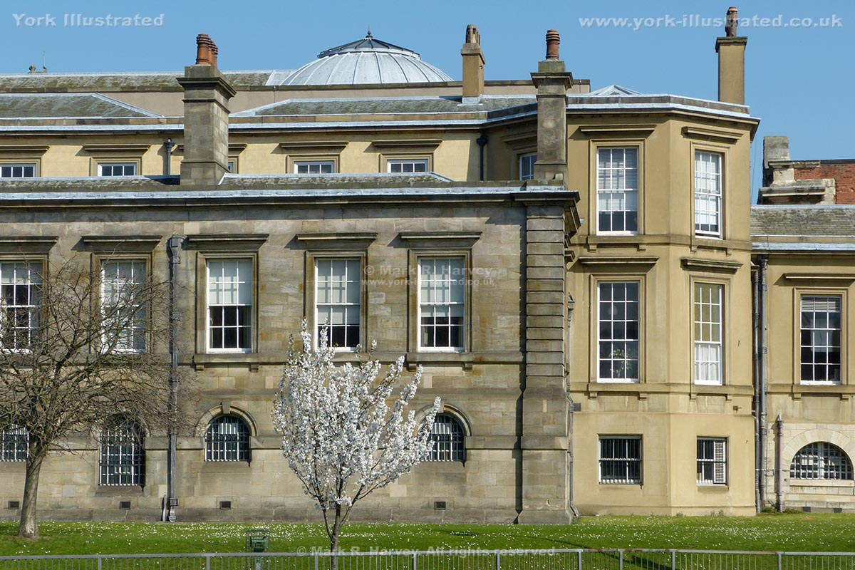 Photograph: Part of rear elevation of former Assize Courts Building (now York Crown Court).