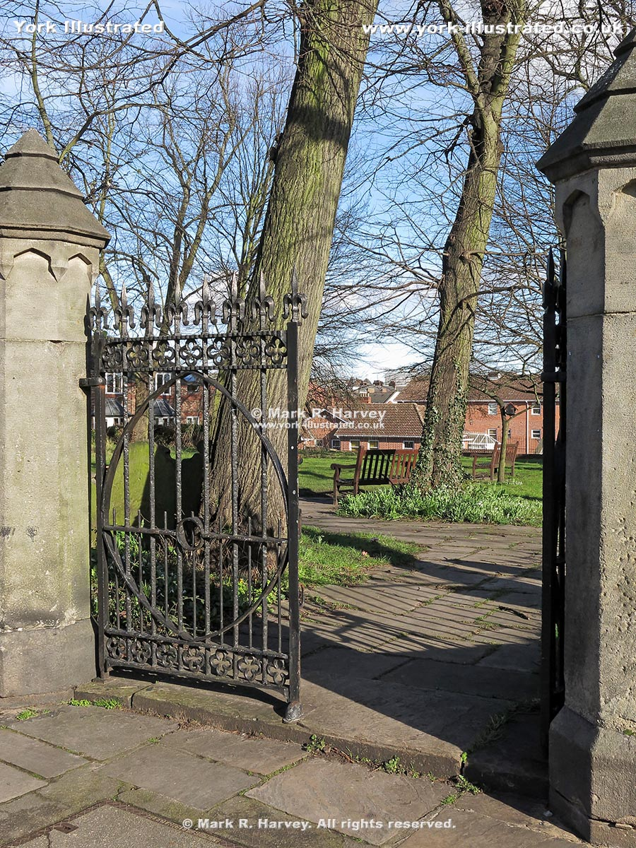 Photo: The entrance gates to Bishophill Community Garden (York).