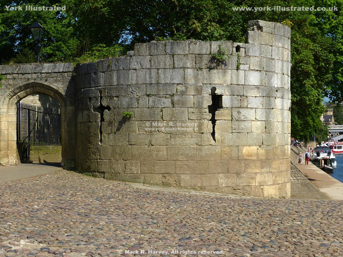 Photograph: The Water Tower (part of St Mary's Abbey defences) beside the River Ouse in York.